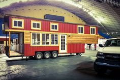 Redwood Cabin is set up and ready to be decorated for the Home & Garden Show in Johnson City Feb. 17th -19th! If you are in the area stop by and check out this Incredible Tiny Home up close! #incredibletinyhomes #tinyhouse #tinyhousemovement #tinyhome #amazing #homeonwheels #homeshow #homeandgarden #tennessee #morristown #johnsoncity #chevy #windows #door #red #wood #redwood #cabin #like4like #follow4follow #love #instagood #picoftheday #custom #awesome #affordable #incredible #tiny #home