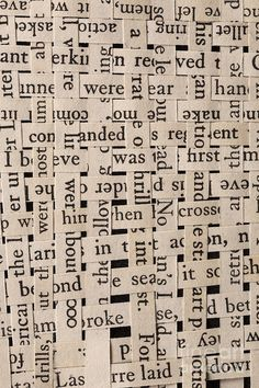 Words Photograph - Woven Words by Edward Fielding Word Collage, Word Art, Collage Art, Paper Weaving, Weaving Art, Book Installation, Newspaper Art, Book Page Art, Book Making