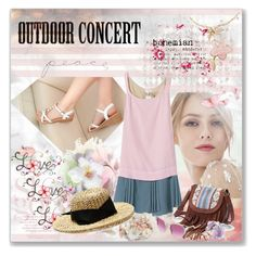 """""""Outdoor Summer Concert"""" by ammiescott ❤ liked on Polyvore featuring Shoes Galore, Artista, N°21, Mudd, People Tree, Fendi, Sensi Studio, Bohemian, polyvorecontest and outdoorconcert"""