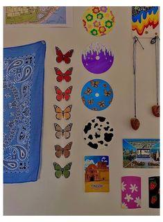 Indie Bedroom, Indie Room Decor, Cute Bedroom Decor, Room Design Bedroom, Room Ideas Bedroom, Wall Decor, Men Bedroom, Bedroom Inspo, Diy Wall