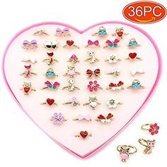 Elesa Miracle Children Kids Little Girl Adjustable Jewelry Rings in Box, Random Shape and Color, Girl Pretend Play and Dress up Rings Little Girl Rings, Little Girl Toys, Baby Girl Toys, Little Girls, Kids Toy Shop, Toy Cars For Kids, Toys For Girls, Kids Rings, Rings For Girls