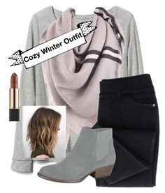 """Cozy winter outfit"" by cassieq6929 on Polyvore featuring Gap and Estée Lauder"