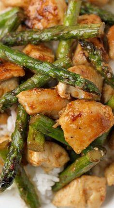 Lemon Chicken and Aspargus Stir Fry