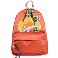 Women's See By Chloe Andy Applique Backpack (5,885 EGP) ❤ liked on Polyvore featuring bags, backpacks, sunset orange, see by chloe bags, rucksack bags, red backpack, colorful backpacks and backpack bags