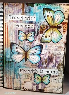Deze keer heb ik een journal pagina gemaakt voor de Art Journey challenge.  Het thema is gekozen door Willy en zij had het woord Travel/reiz...