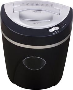 """SimplyShred FHC512D 12 Sheet Cross Cut Paper Shredder - Shreds CD/DVD, Staples, Credit Cards - Quiet Motor (5 Gallon) - Security Level 3 by SimplyShred. $95.99. A high quality and quiet 12-sheet cross-cut shredder. It accepts paper, CD/DVD, credit card and staples. Medium duty motor can shred 8.5 feet per minute. 8.9"""" paper entry can accept letter and legal-size documents. Quiet motor dampens grinding and shredding noise. 1 year warranty on all parts.  Feature Highlights: 1...."""