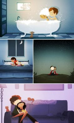 Illustrations by Nidhi Chanani  I love love love these.