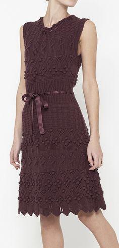 Christian Dior Burgundy Dress