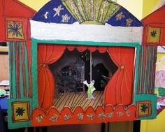 This class are looking at the Victorians, with Peter Pan and JM Barrie right on our door step this was the obvious choice Little Theatre, Toy Theatre, Paper Puppets, Hand Puppets, Projects For Kids, Art Projects, Puppetry Arts, Jm Barrie, Puppet Show