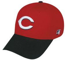 sale retailer 17ff3 bf4fe Cincinnati Reds (Black Brim) ADULT Adjustable Hat MLB Officially Licensed  Major League Baseball Replica