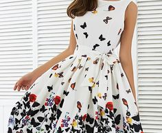 entre mes jambes — misselegantchic: floral a-line dress