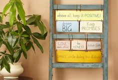 Present your family's words to live by in decorative ways with our easy décor ideas.