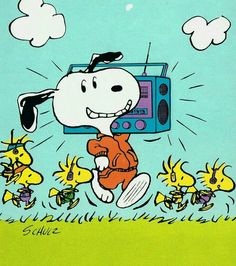 'Mr. Jambox!', Snoopy and Woodstock out for a Jog.
