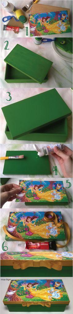 Tutorial de caixa em mdf com papel fotográfico #artesanato #decoração #PAP #DIY…