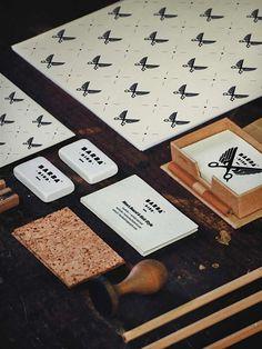 awesome brand study about a baber shop identity designed by Polish designer Dawid Cmok | Barba Bird Brand Study