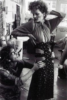 Ossie Clark & Gala Mitchell, 1974.