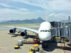 British Airways A380 loading cargo at the gate