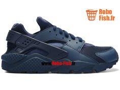 Nike Air Huarache - Chaussure Nike Running Pas Cher Pour Homme Bleu Marin 318429-440