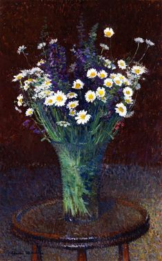 """Vase of Daisies"" by Henri Martin."