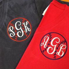 Monogram baseball shirt includes shipping by TheGiftBoxofMinden, $25.00