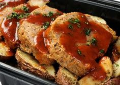 Budget-Friendly Herb Garlic Meatloaf - American Diabetes Association® - This savory budget-friendly meat loaf is just as good as classic meatloaf. Our diabetes-friendly version is made with lean ground turkey and is seasoned with fresh herbs and garlic.