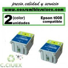 PACK 2 CARTUCHO COMPATIBLE EPSON T008