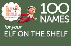 100 Names for your Elf on the Shelf (printable)
