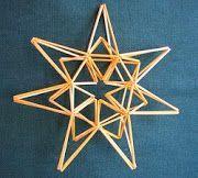 Suvikumpu: Olkitähti how to Christmas Time, Christmas Crafts, Christmas Ornaments, Christmas Ideas, Craft Stick Crafts, Diy And Crafts, Star Diy, Stars Craft, Craft Markets