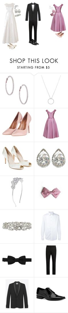 """""""Wedding Set"""" by sarahpurple1221 ❤ liked on Polyvore featuring Roberto Coin, Topshop, Monsoon, M&Co, Salvatore Ferragamo, Lanvin, Acne Studios, Yves Saint Laurent and Calvin Klein"""