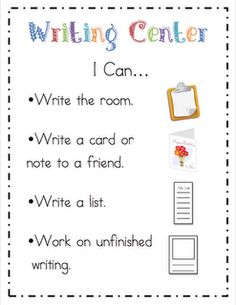 """Writing center """"I Can"""""""
