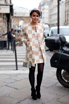 Miroslava Duma, Paris Haute Couture Spring/Summer 2013 | Harper's Bazaar Street Style
