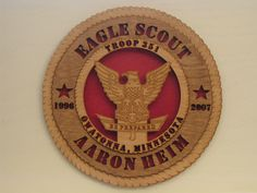 Boy Scouts of America Eagle Scout Plaque What a great gift idea, I can make this!