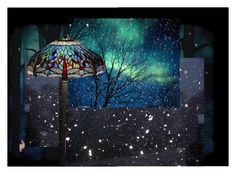 """""""Winter night"""" by naniko ❤ liked on Polyvore featuring art"""