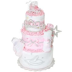 stroller diaper cakes for baby showers | Royal Carriage Princess Diaper Cake