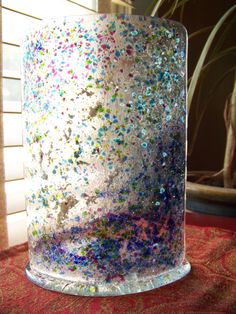 Fused Glass candle shield by Glitz & Grandeur