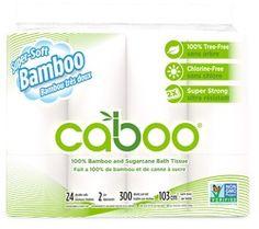 Caboo Bamboo & Sugarcane Bathroom Tissue Jumbo Rolls 2 Ply $25.99 - from Well.ca