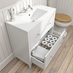 The Bath Co. Camberley satin ivory floor drawer unit with basin White Vanity Unit, Basin Vanity Unit, Bathroom Vanity Units, Gray Vanity, Bathroom Furniture, Bathroom Storage, Bathroom Flooring, Furniture Decor, Bathroom Inspiration
