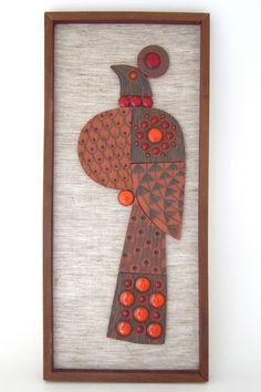 John Clappison peacock wall plaque