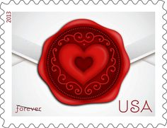 We really love the new limited-edition Sealed with Love stamps from @USPSstamps. Such a perfect addition to your Valentine's Day cards.