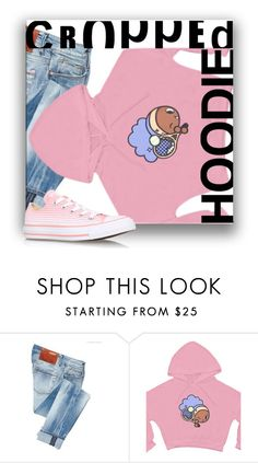 """""""cropped hoodie"""" by noralyn ❤ liked on Polyvore featuring ACHT, Converse and croppedhoodien"""
