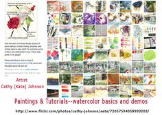 Paintings & Tutorials  - watercolor basics  by Cathy (Kate) Johnson