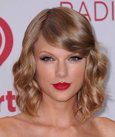 Taylor Swift Medium Wavy Formal Hairstyle - Dark Blonde (Copper) | TheHairStyler.com