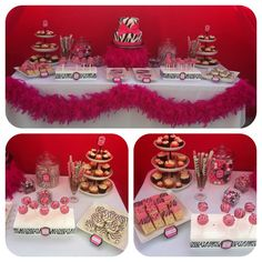 Aubreys baby shower, Zebra themed dessert table :)  I baked the cupcakes, cakepops, dipped the pretzels and rice krispies.