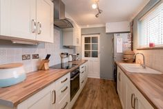 Kitchen - Units & Worktop from Wickes, Batik Tiles from Topps Tiles, Wall Colour - Classic Duck Egg by Crown Period Colours
