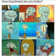 Comment ur number of squidward (mines Really Funny Memes, Stupid Funny Memes, Funny Relatable Memes, Haha Funny, Hilarious, Funny Stuff, Funny Spongebob Memes, Cartoon Memes, Cartoons