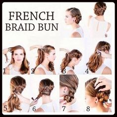 The French braid bun is truly trending