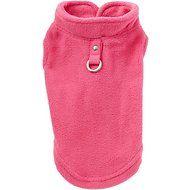Gooby Fleece Dog Vest, Small, Pink