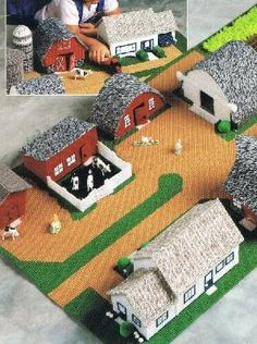 Boys Fold Up Farm Plastic Canvas Pattern Email Only