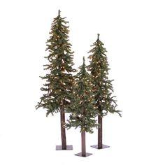 "Vickerman Flocked Alpine 36"" Artificial Christmas Tree with Clear Lights #Wayfair"