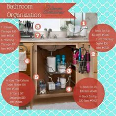 Clever Container Bathroom Organization!